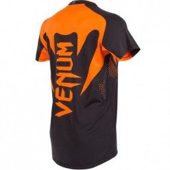 Футболка Venum Hurricane X Fit T-shirt - Black/Neo Orange