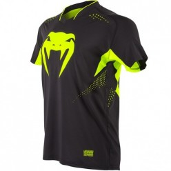 Футболка Venum Hurricane X Fit T-shirt - Black/Neo Yellow