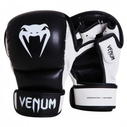 ПЕРЧАТКИ MMA VENUM SPARRING GLOVES SKINTEX BLACK