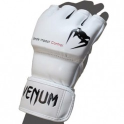 ПЕРЧАТКИ VENUM IMPACT MMA GLOVES - SKINTEX LEATHER - WHITE