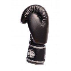 Боксерські рукавиці PowerPlay 3010 Чорно-Сірі 16 унцій