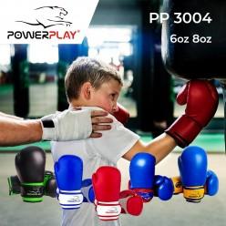 Боксерські рукавиці PowerPlay 3004 JR Чорно-Зелені 8 унцій