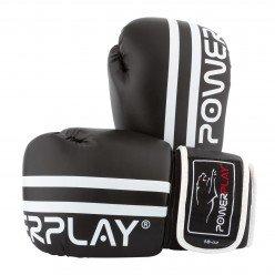 Боксерські рукавиці PowerPlay 3010 Чорно-Білі 8 унцій