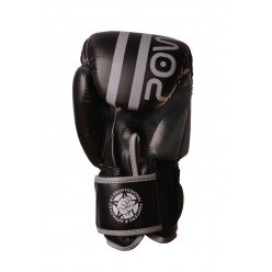 Боксерські рукавиці PowerPlay 3010 Чорно-Сірі 14 унцій