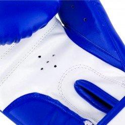 Боксерські рукавиці PowerPlay 3004 JR Синьо-білі 6 унцій