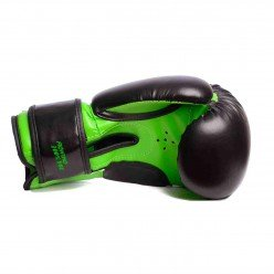 Боксерські рукавиці PowerPlay 3004 JR Чорно-Зелені 6 унцій