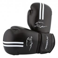 Боксерські рукавиці PowerPlay 3016 Чорно-Білі 10 унцій