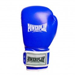 Боксерські рукавиці PowerPlay 3019 Сині 12 унцій