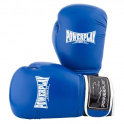 Боксерські рукавиці PowerPlay 3019 Сині 14 унцій