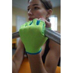 Рукавички для фітнесу PowerPlay 418 С жіночі Зелені S