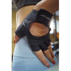 Рукавички для фітнесу PowerPlay 2004 жіночі Чорні S