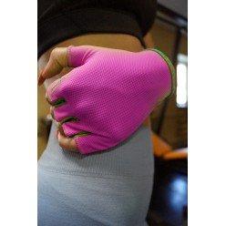 Рукавички для фітнесу PowerPlay 418 жіночі Розові M