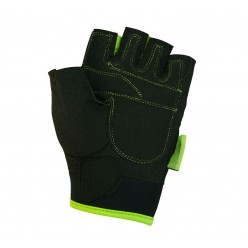 Рукавички для фітнесу PowerPlay 1728 жіночі Чорно-Зелені XS