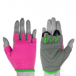 Рукавички для фітнесу PowerPlay 418 жіночі Розові XS
