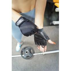 Рукавички для фітнесу PowerPlay 2311 жіночі Чорні S