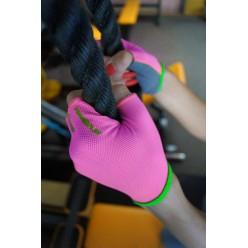 Рукавички для фітнесу PowerPlay 418 жіночі Розові S