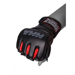 Рукавички для MMA PowerPlay 3053 Чорно-Червоні L/XL