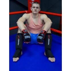 Рукавички для MMA PowerPlay 3058 Чорно-Червоні XL