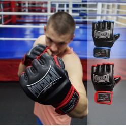 Рукавички для MMA PowerPlay 3058 Чорно-Сині L