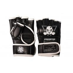 Рукавички для MMA PowerPlay 3056 А Чорно-Білі XL