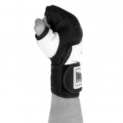 Рукавички для MMA PowerPlay 3075 Чорні-Білі L