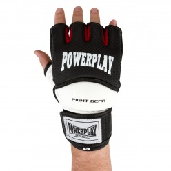 Рукавички для MMA PowerPlay 3075 Чорні-Білі XS