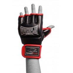 Рукавички для MMA PowerPlay 3058 Чорно-Червоні S