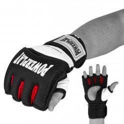 Рукавички для MMA PowerPlay 3075 Чорні-Білі S