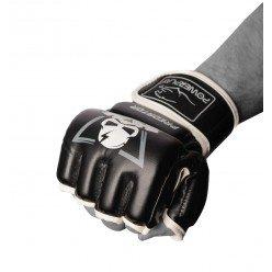 Рукавички для MMA PowerPlay 3056 А Чорно-Білі S