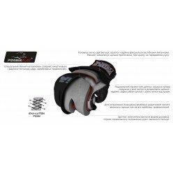 Рукавички для MMA PowerPlay 3058 Чорно-Сині S