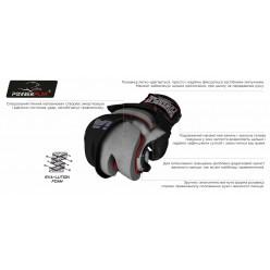 Рукавички для MMA PowerPlay 3053 Чорно-Червоні S/M
