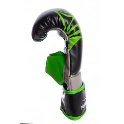 Снарядні рукавички PowerPlay 3038 Чорно-Зелені M