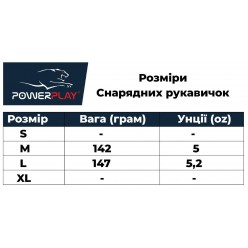 Снарядні рукавички PowerPlay 3012 Чорні S