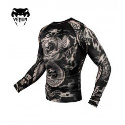 Рашгард Venum Dragon's Flight Black/Sand L/S