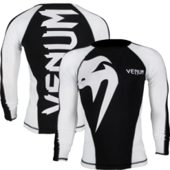 Рашгард Venum Giant Rashguard - Black/Ice - Long sleeves