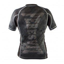 Рашгард Peresvit Immortal Silver Force Rashguard Short Sleeve Black Rain