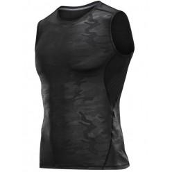 Рашгард безрукавка камуфляж черно-серый