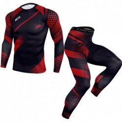 Компрессионные штаны Artix Red Effect