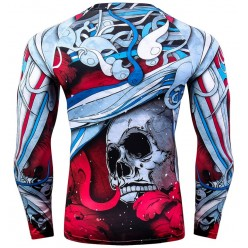 Рашгард Abstract Skull