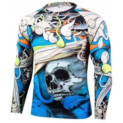Рашгард Abstract Skull Blue
