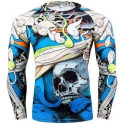 Рашгард Abstract Skull Blue