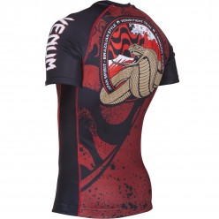 Рашгард Venum Crimson Viper Rashguard Short Sleeves Black Red