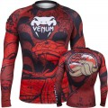 Рашгард Venum Crimson Viper Rashguard Black Red с длинным рукавом