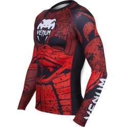 Рашгард Venum Crimson Viper Rashguard Black Red с длинным рукавом