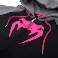 Женская толстовка Venum Infinity Hoody With Zip - Black Grey