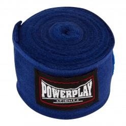 Бинти для боксу PowerPlay 3047 Сині (4м)
