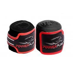 Бинти для боксу PowerPlay 3046 Чорні (4м)