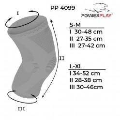 Наколінники спортивні PowerPlay 4099 Черні S/M (пара)