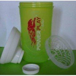 Шейкер спортивний ShakerStore з логотипом PowerPlay 600 мл. GREEN