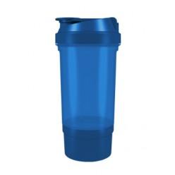 Шейкер спортивний Shaker 360 500ml з контейнером Blue
